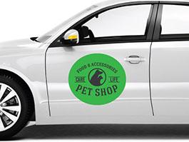 Custom Car Signage - Custom car magnets die cut